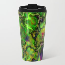 Green Marbleized Pattern Travel Mug