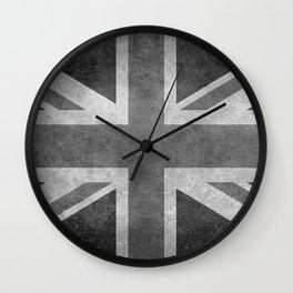 British Union Jack flag 1:2 scale retro grunge Wall Clock