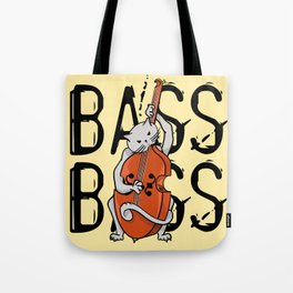 Cat Playing A Double Bass Tote Bag