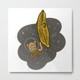 Astrobub and the Banana Spaceship Metal Print