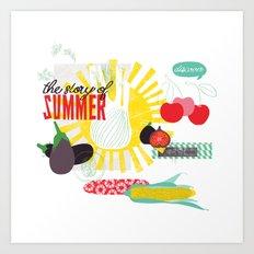 Summer Food Art Print