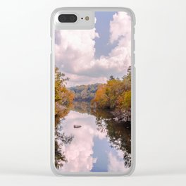 Fall Reflection Clear iPhone Case