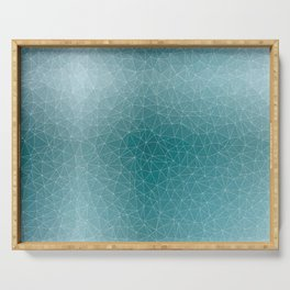 Triangular Cool Blues Serving Tray