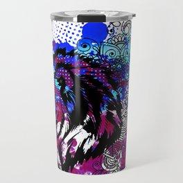 Purple Lion Spirit Travel Mug