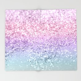 Unicorn Girls Glitter #1 #shiny #pastel #decor #art #society6 Throw Blanket