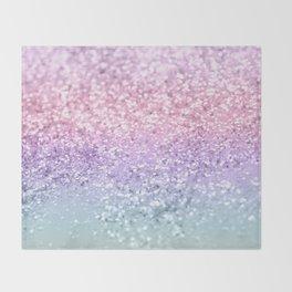 Unicorn Girls Glitter #1 #shiny #pastel #decor #art #society6 Throw Blanket