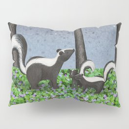 starlit striped skunks Pillow Sham