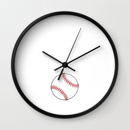 Can't Deflate This Baseball Sports Tough T-Shirt Wall Clock