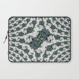 Hydrangeas - White & Blue Floral Laptop Sleeve