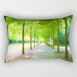 Tree alley painted Rectangular Pillow