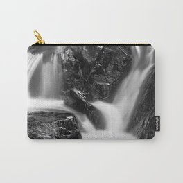 Shelving Rock Stream - Black & White Carry-All Pouch