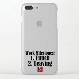 Funny Work Dream Milestones Lunch Job Sucks Stupid Clear iPhone Case
