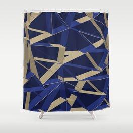 3D Futuristic GEO IX Shower Curtain