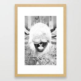 Black Glasses B/W Invert Framed Art Print
