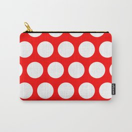 Big polka dots on red Carry-All Pouch