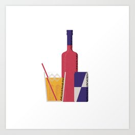 Vodka Red Bull Art Print