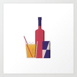 Vodka Red Bull Art Print