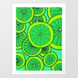Summer Limes Citrus Art Art Print