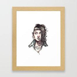 Salander - The Girl with the Dragon Tattoo Framed Art Print