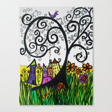 Monday Whimsy Doodle _original Canvas Print