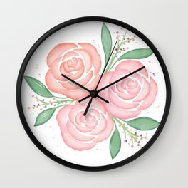 Roses in Spring Wall Clock