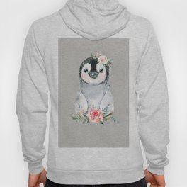 Penguin with Rose Hoody