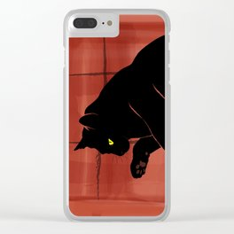 Olivia, the cat on the porch Clear iPhone Case