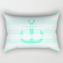 Vintage Anchor Mint Rectangular Pillow