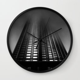 Downtown Toronto Fogfest No 11 Wall Clock