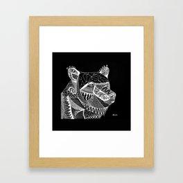 Cosmic Spirit Bear Framed Art Print