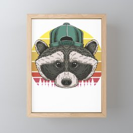 Dadacoon Racoon Dad Papa Father Daddy Father´s Day Gift Framed Mini Art Print