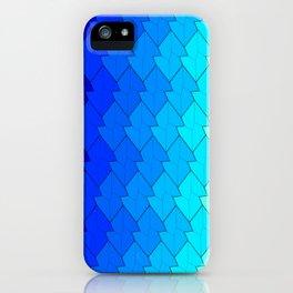 blue lozenges iPhone Case