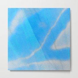 Silky Blue Sky Soft Love Boho Silk Print Metal Print