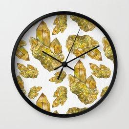 Citrine November Birthstone  Wall Clock