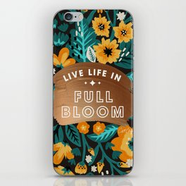 Live Life in Full Bloom – Rose Gold & Orange Palette iPhone Skin