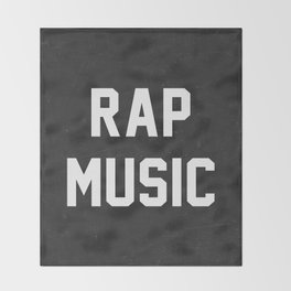 Rap Music Throw Blanket