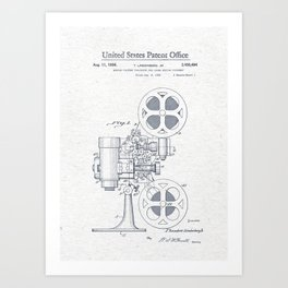 Movie projector Art Print