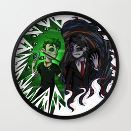 Antisepticeye VS Darkiplier Wall Clock