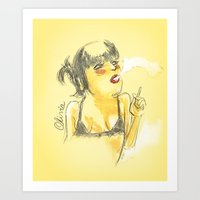 charmaine olivia Art Prints featuring Olivia by Gustavo Gialuca
