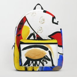 Girl Portrait Pop Art Backpack