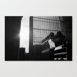 Ai Weiwei in Washington Square Park Canvas Print