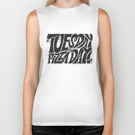 Tuesday is Pizza Day Biker Tank