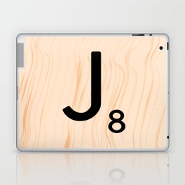 Scrabble Letter J - Large Scrabble Tiles Laptop & iPad Skin