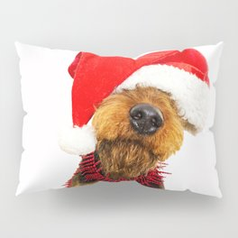 Airedale Terrier Christmas Photography Pillow Sham