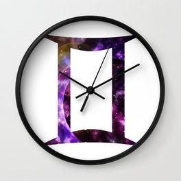 Galactic Gemini Wall Clock