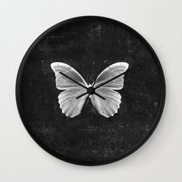 Butterfly in Black Wall Clock