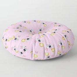 White Rabbit from Alice Floor Pillow