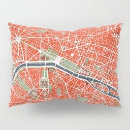 Paris city map classic Pillow Sham