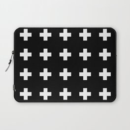 Swiss Cross Black Laptop Sleeve