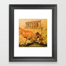 Monsieur Bone Spartan Framed Art Print